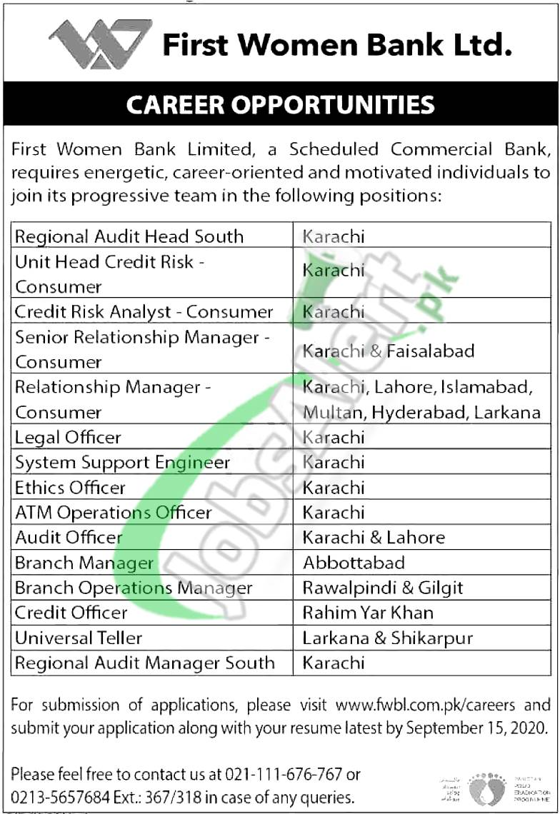 www.fwbl.com.pk Jobs