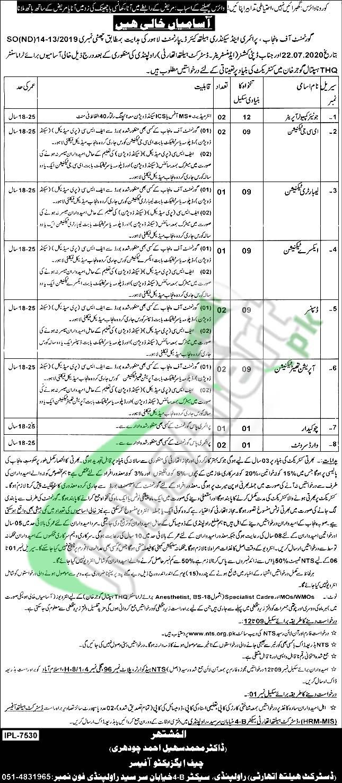 District Health Authority Rawalpindi Jobs 2020
