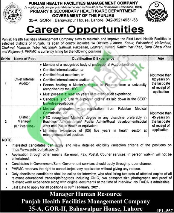PHFMC Jobs