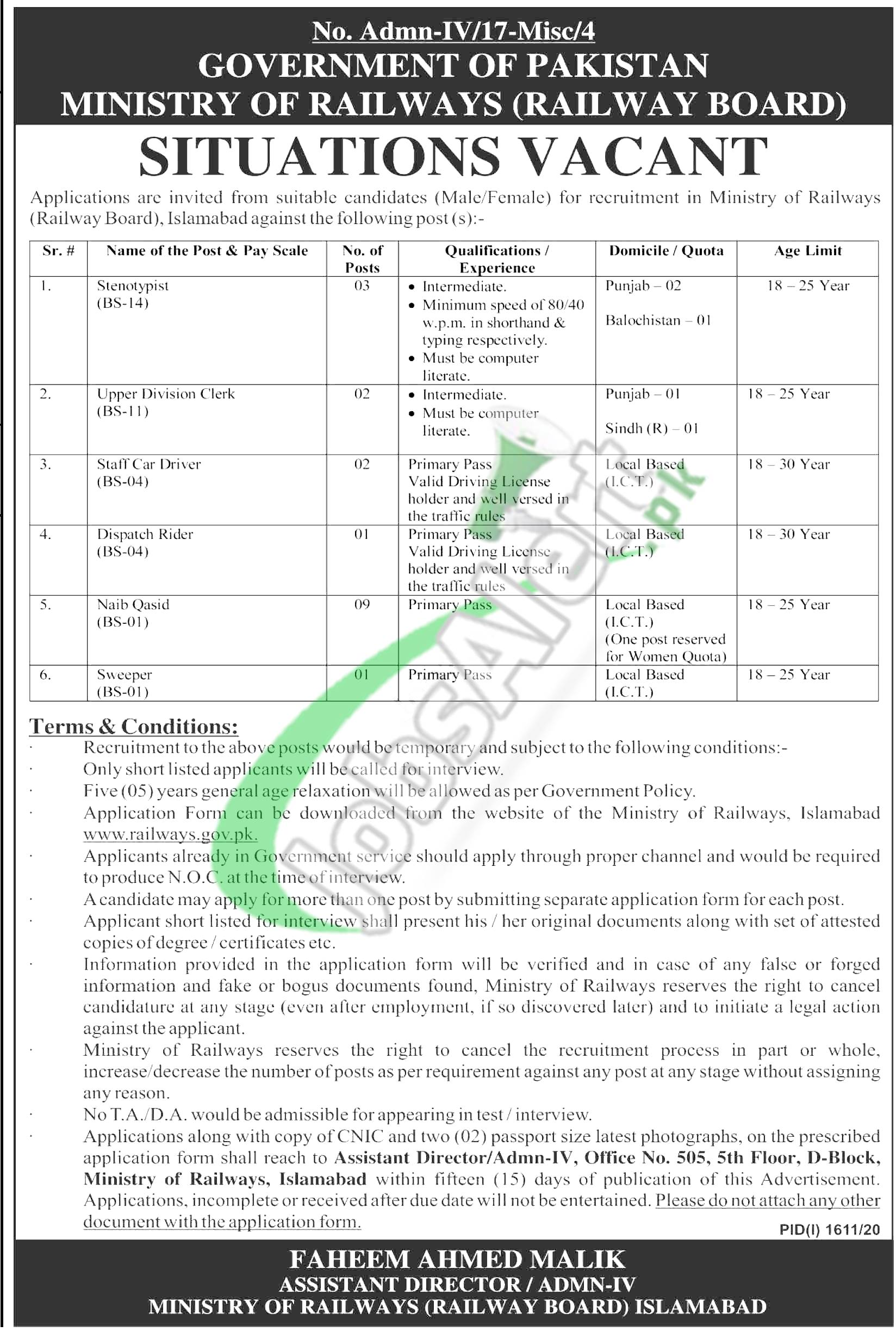 Ministry of Railway Jobs