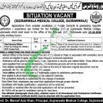 Gujranwala Medical College Jobs