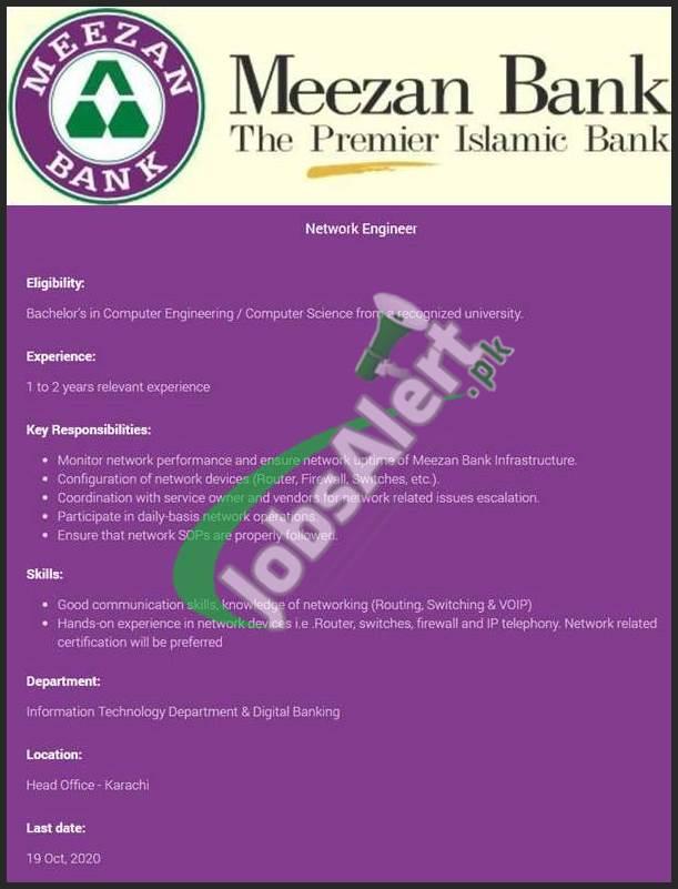 Meezan Bank Jobs 2020