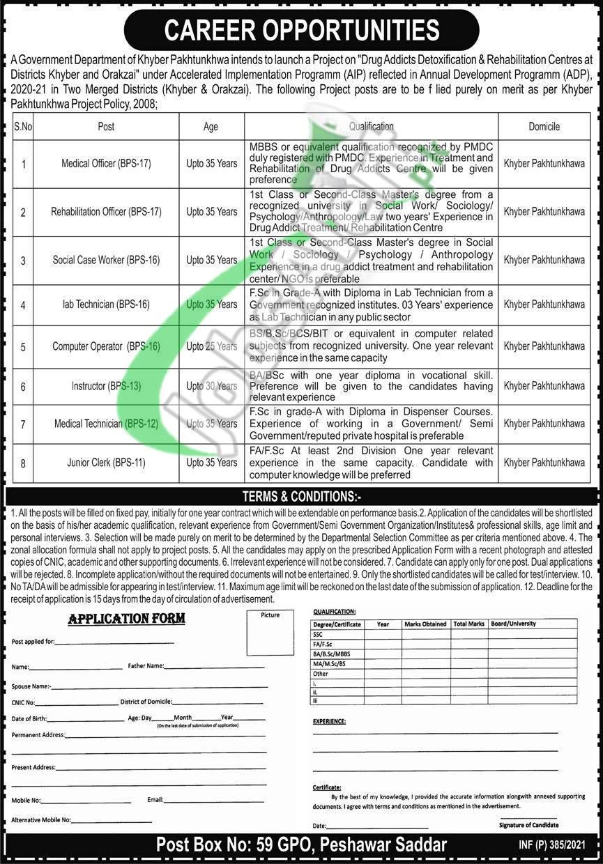 PO Box 59 GPO Peshawar Jobs