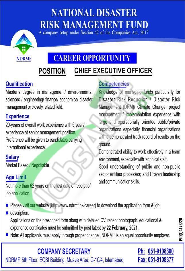 NDRMF Jobs