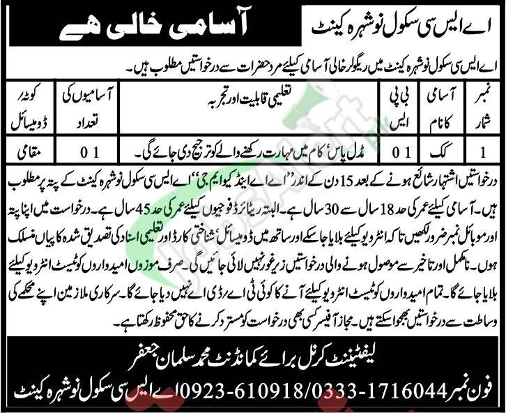 ASC School Nowshera Jobs
