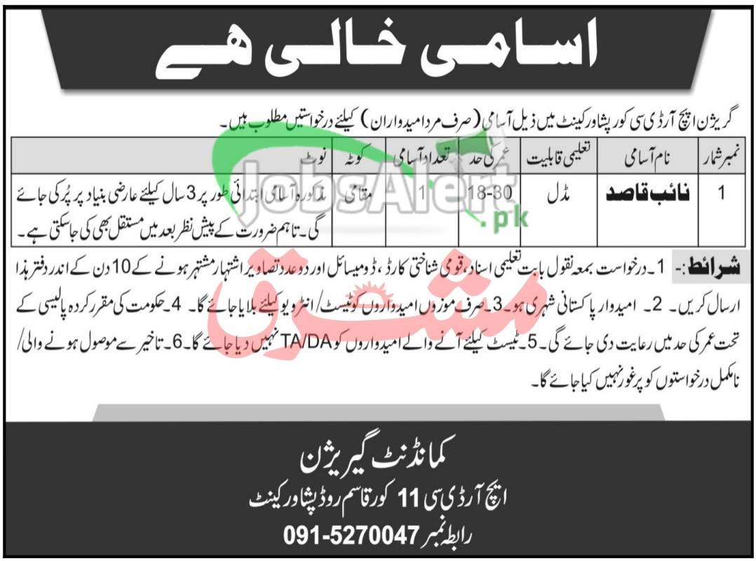 Garrison HRDC Peshawar Jobs