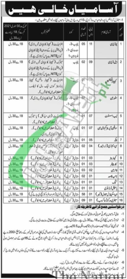 Central Ordnance Depot Karachi Jobs
