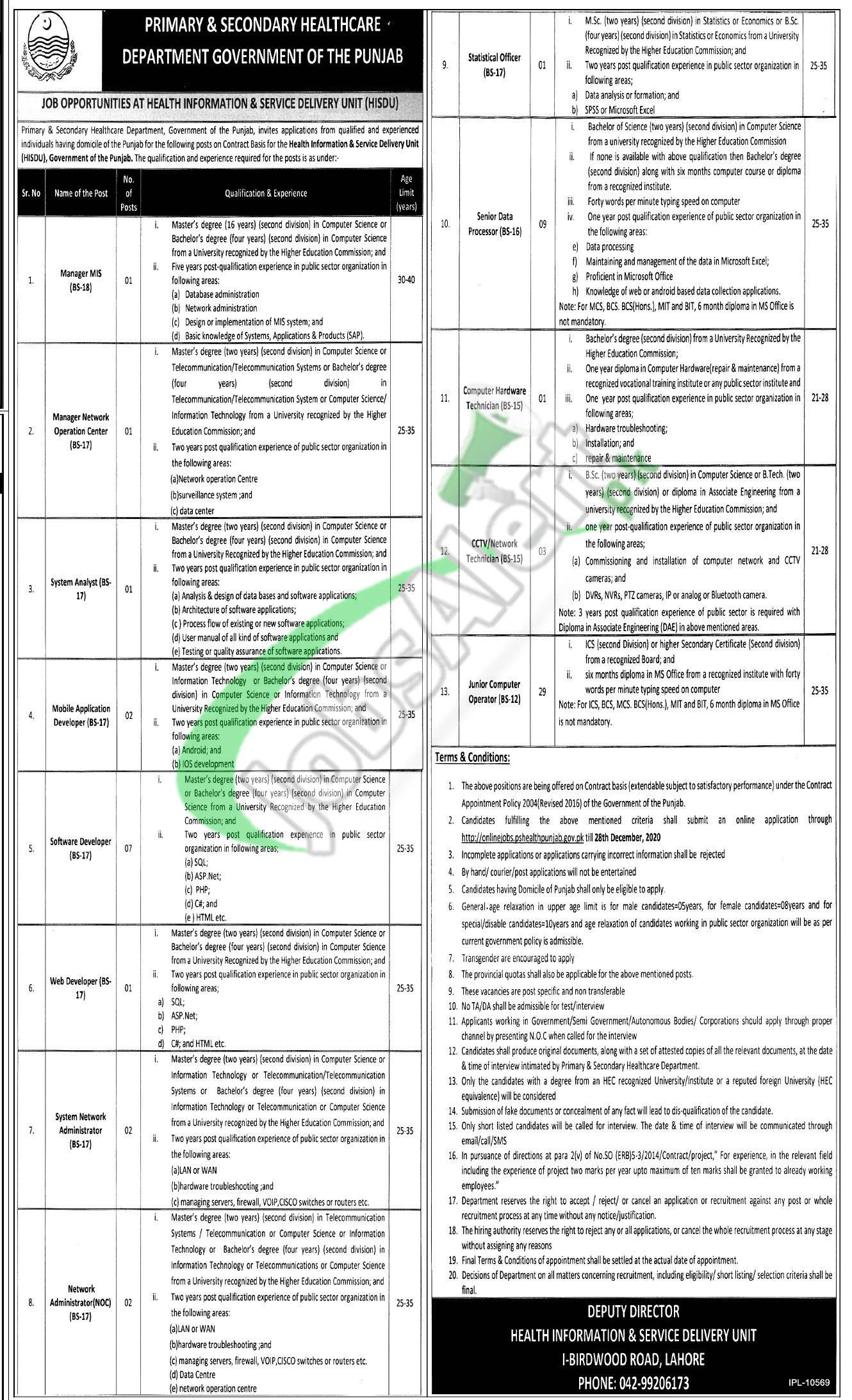 Health Information & Service Delivery Unit Jobs