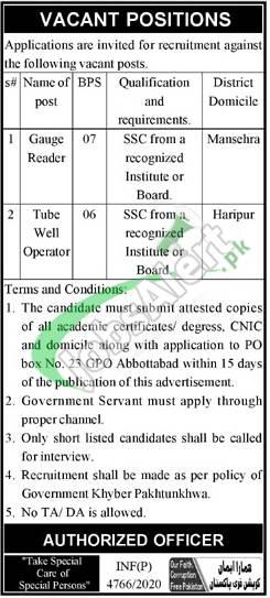 PO Box 23 Abbottabad Jobs