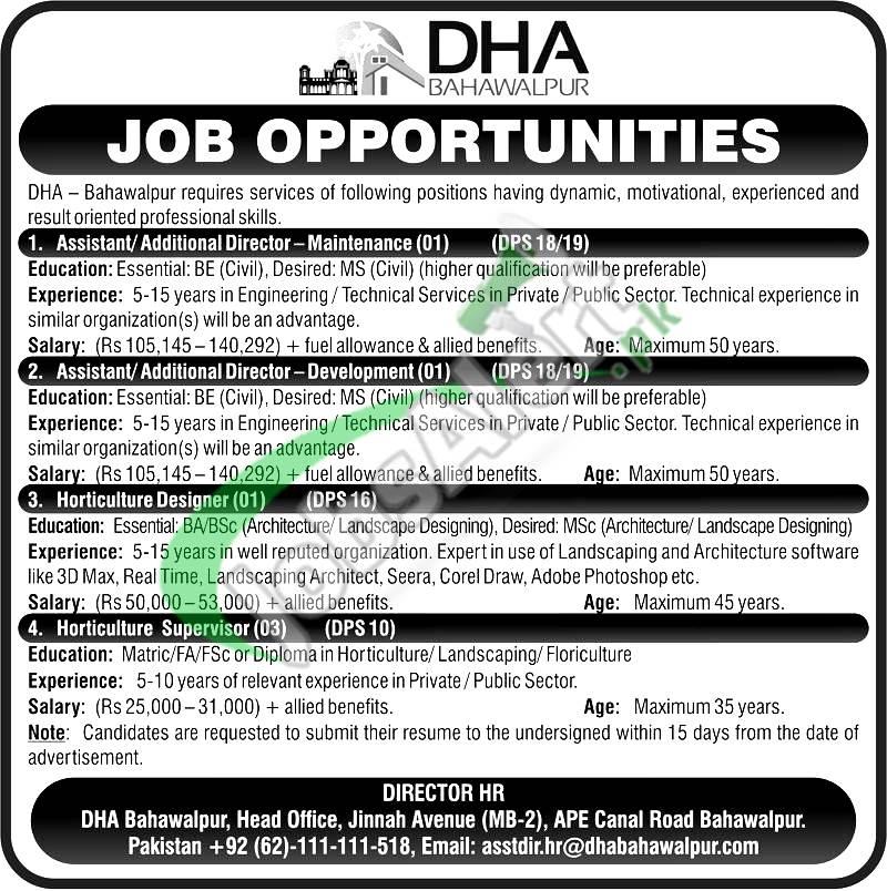DHA Bahawalpur Jobs