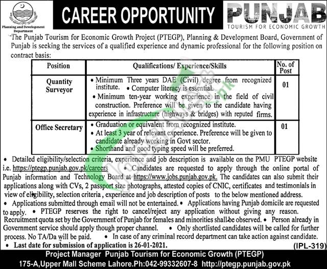Punjab Tourism For Economic Growth Project Jobs