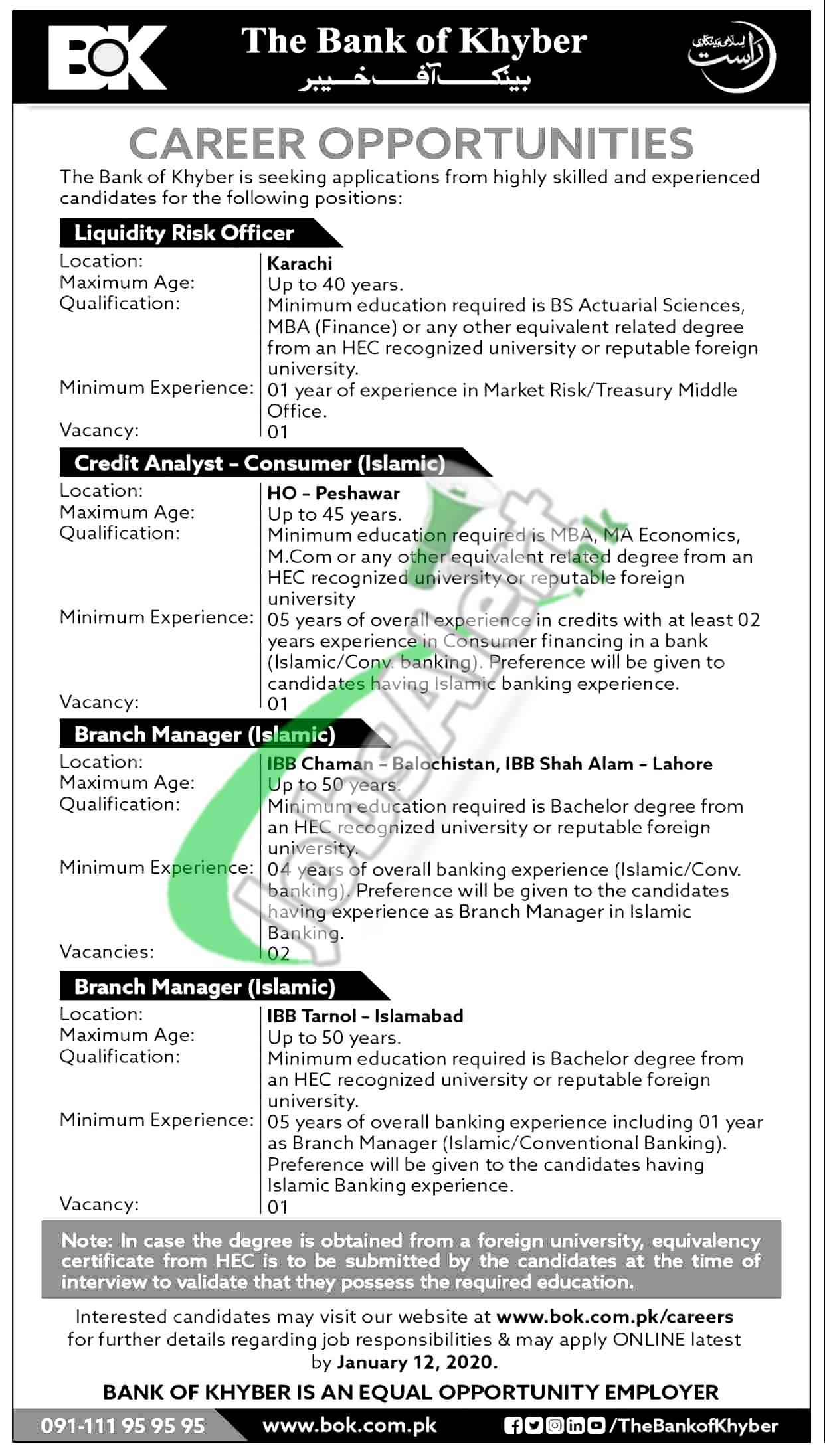 BOK Bank Jobs 2021