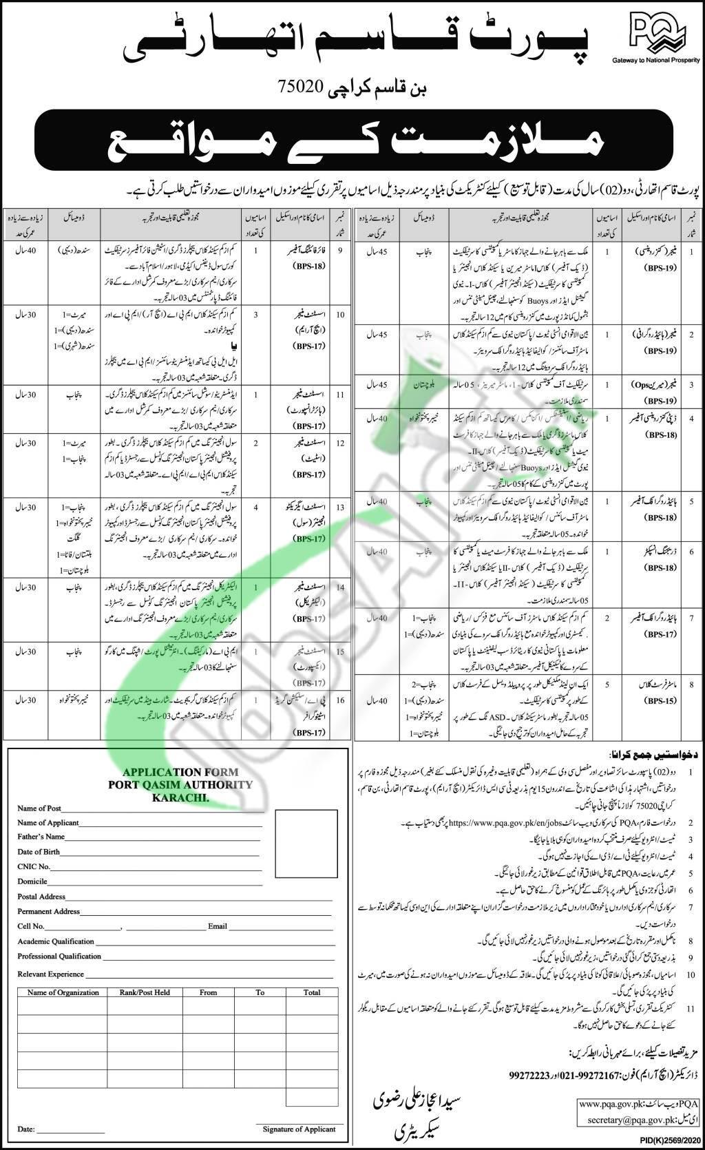Port Qasim Jobs in Karachi