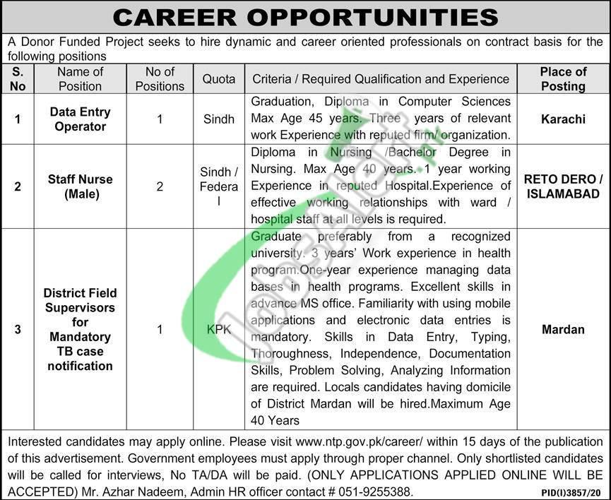 ntp.gov.pk Jobs