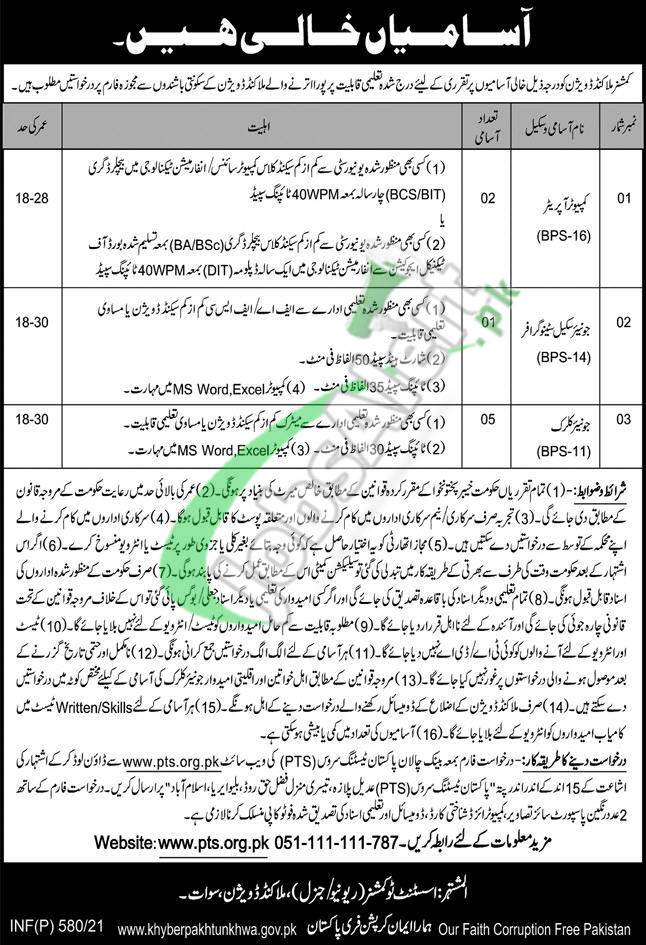 Commissioner Office Malakand Jobs