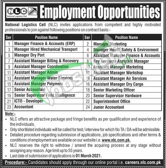 www.nlc.com.pk Jobs