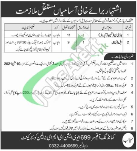 Jobs in 699 Aviation EME Battalion Quetta