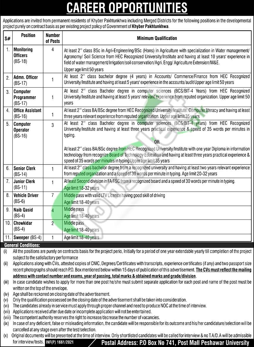 PO Box 741 Peshawar Jobs