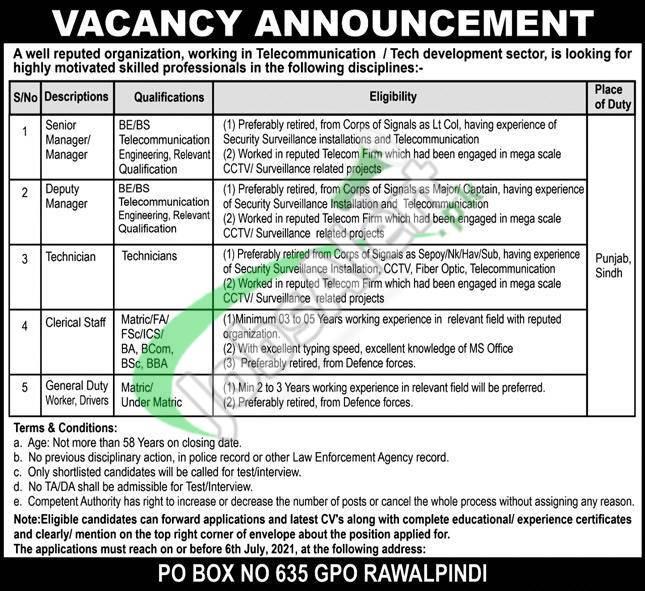 PO Box 635 Jobs 2021