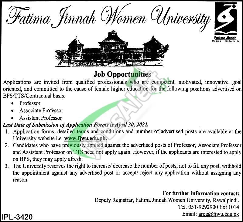 FJWU Jobs