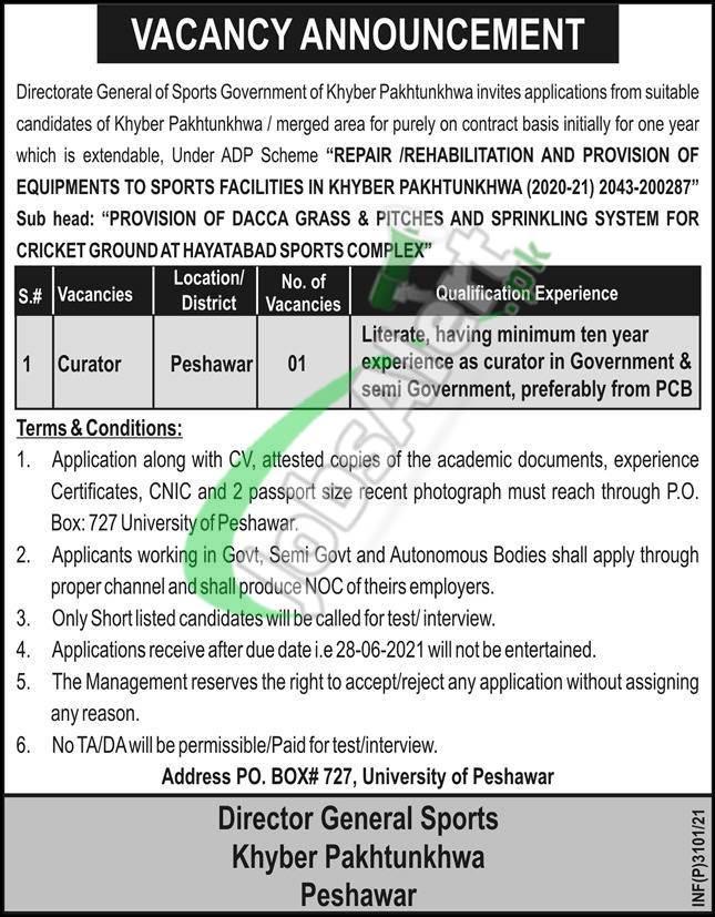 PO Box 727 Peshawar Jobs 2021