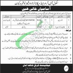 Jobs in School of Armour and Mechanized Warfare Nowshera