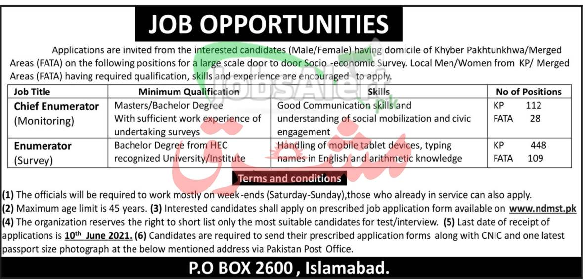 Jobs in PO Box 2600 Islamabad Jobs