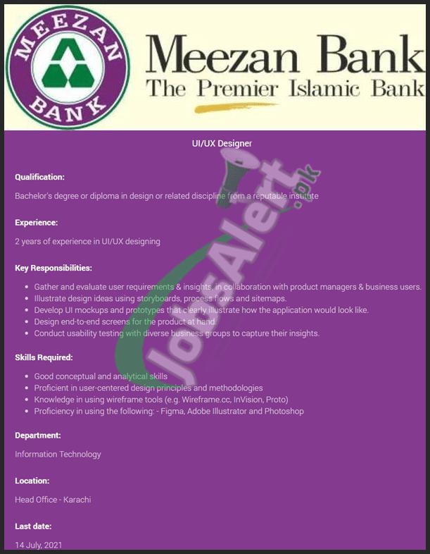 www.meezanbank.com Jobs 2021