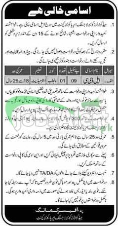 Headquarters Quetta Logistics Area Jobs