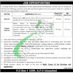 PO Box 1009 Islamabad Jobs