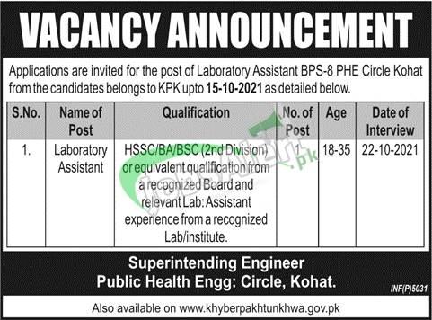 Public Health Engineering Department KPK Jobs 2021