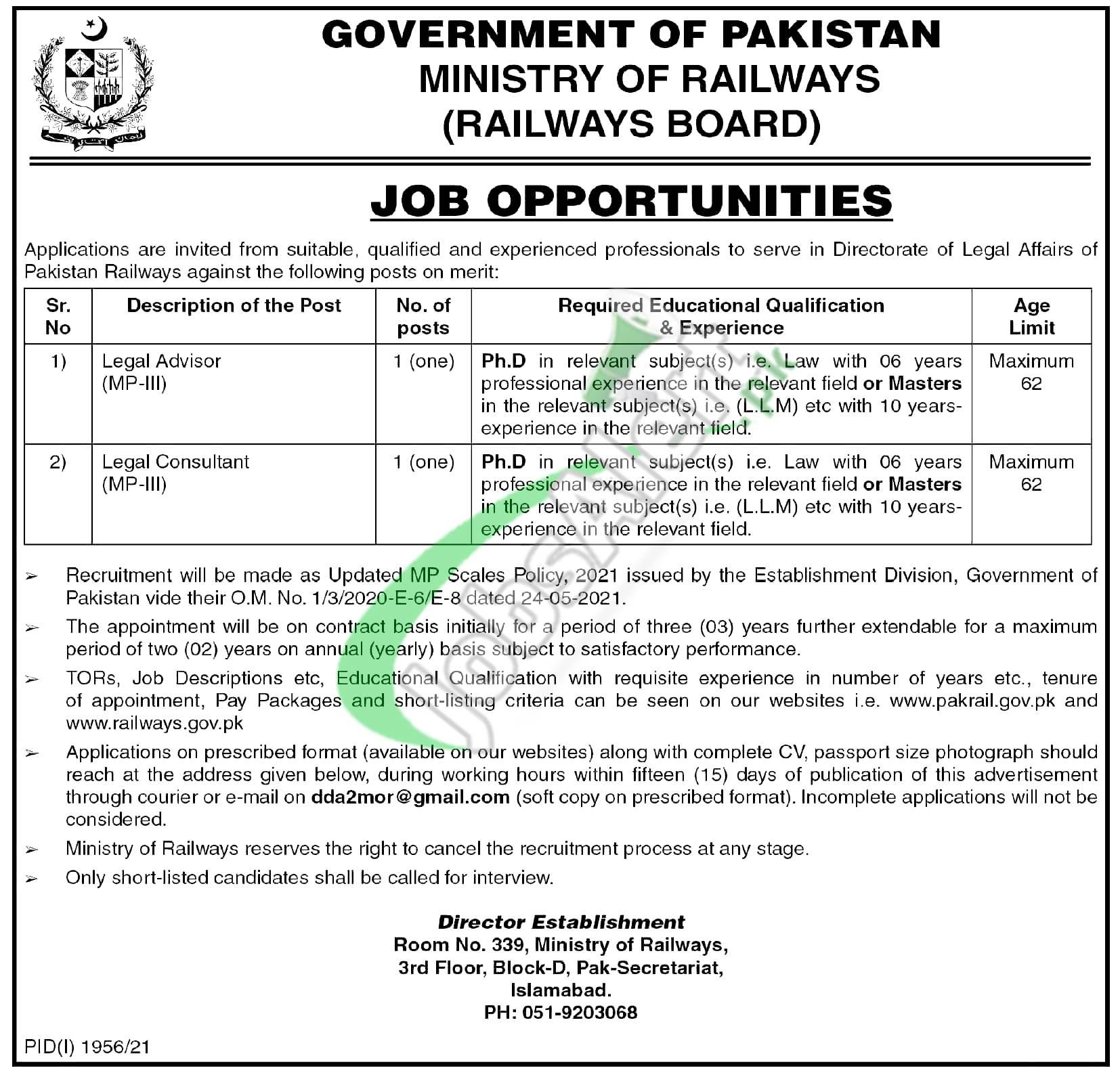 Railway Board Jobs